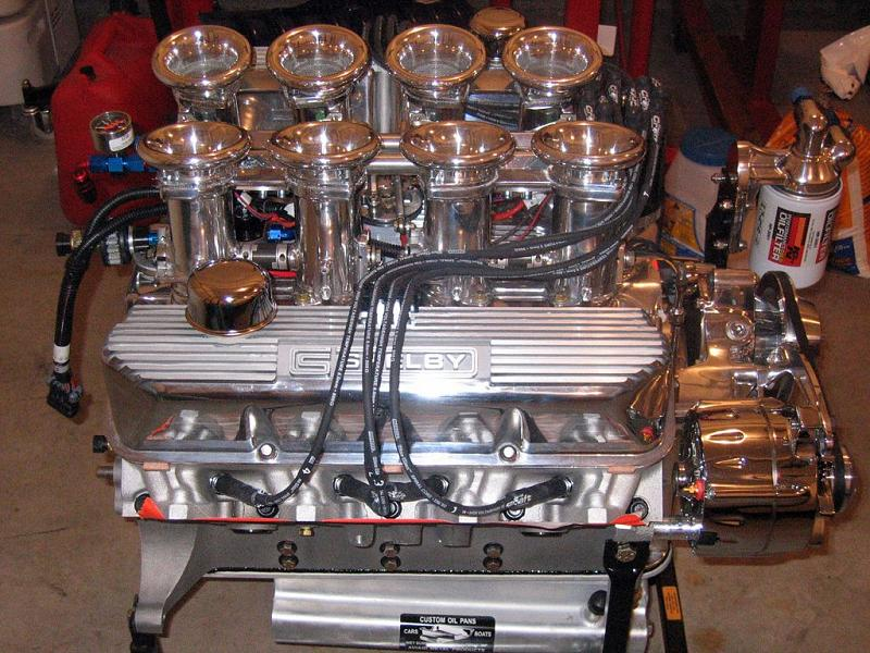 Engine on Ford 427 Cobra Crate Engines